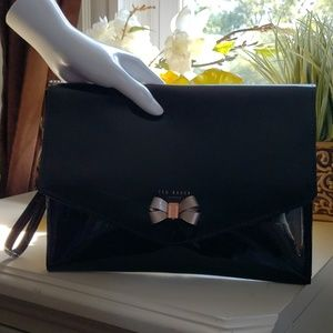 Brand New Ted Baker Patent envelope clutch!